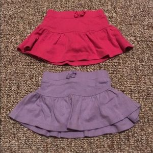 3/6 month old navy skirts